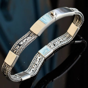 Bracelet argent grande taille pour homme