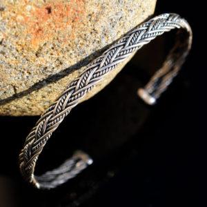 Bracelet en argent tressé pour homme