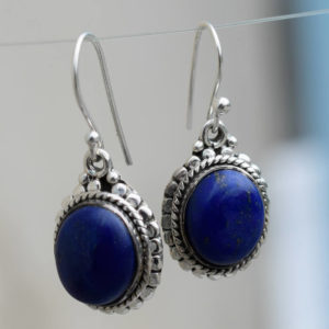lapis lazuliboucles oreilles pendantes bijou femme