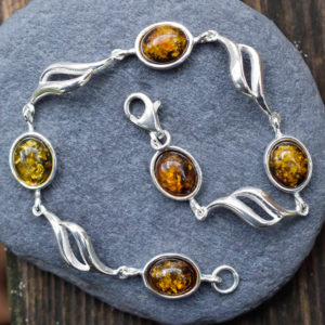 Bracelet ambre pierre bijou femme