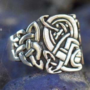 Gravures entrelacs celtes bretonnes bague homme