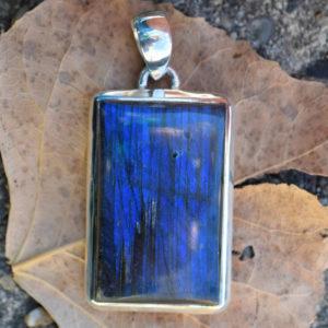 Labradorite bleue pendentif homme ou femme